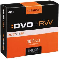 Intenso DVD+RW 4,7GB 10er Slimcase 4x