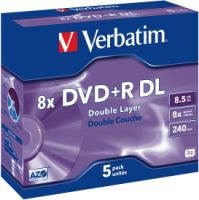 Verbatim DVD+R DL 8,5GB 8X 5er JC