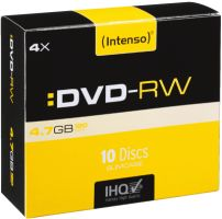 Intenso DVD-RW 4,7GB 10er Slimcase 4x