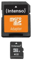 Intenso Micro SD Card 4GB Class 4 inkl. SD Adapter
