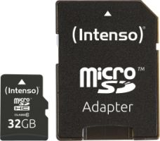 Intenso Micro SD Card 32GB Class 10 inkl. SD Adapter