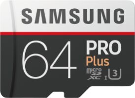 Samsung PRO Plus 64GB micro SDXC Card 100MB/s + SD-Adapter