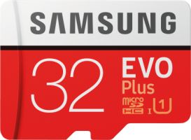 Samsung EVO Plus 32GB microSDHC Card 95MB/s + SD-Adapter