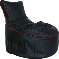 Gamewarez Crimson Hurricane Seatbag in Kunstlederoptik