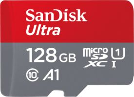Sandisk Ultra microSDXC 128GB UHS-I + SD Adapter