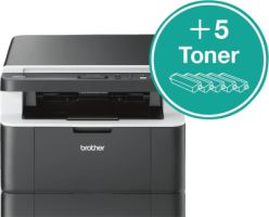 Brother DCP-1612W inklusive 5 Toner