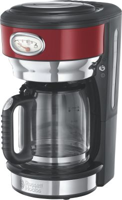 Russell Hobbs Retro Ribbon Red Glas-Kaffeemaschine_0